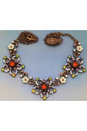 Michal Negrin Open Flowers Necklace